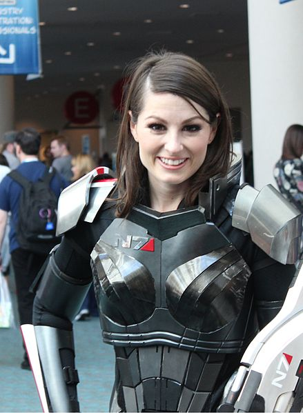 A FemShep Cosplayer - via Wikipedia