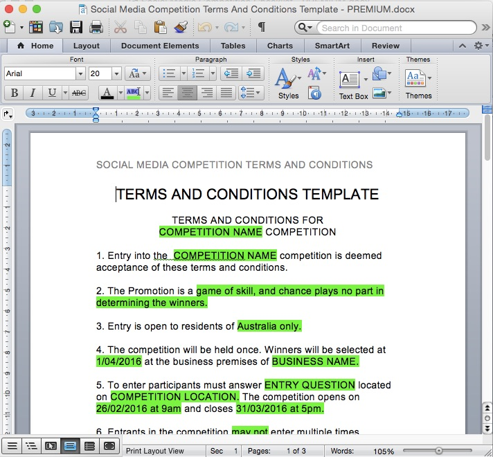 Social media competition terms and conditions template rachel beaney for a full scale preview of this tool pronofoot35fo Images