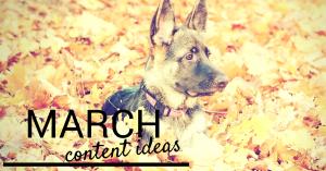 Social Media Content Plan Ideas: March
