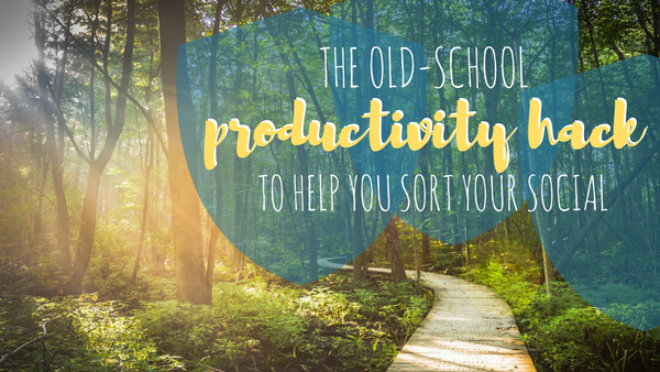 The Old-School Productivity Hack to Help You Sort Your Social
