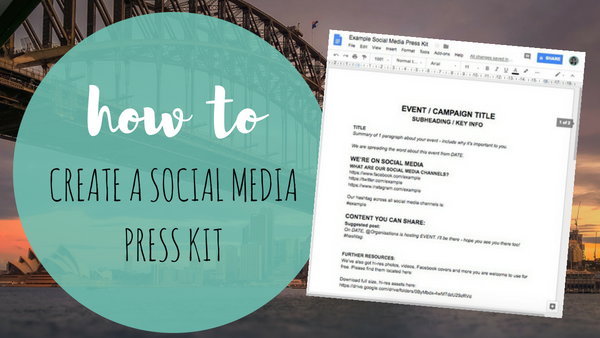 How To Create A Social Media Press Kit